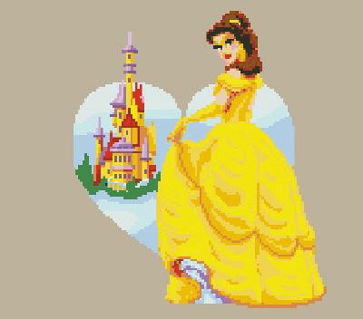 Схемы вышивки крестом.  Принцессы и драконы.